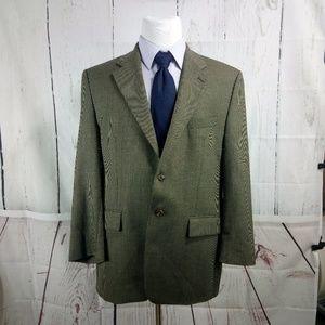 Chaps Ralph Lauren 43R Olive Suit Blazer Sports C